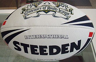 Football (ball) - A Steeden football as used in rugby league