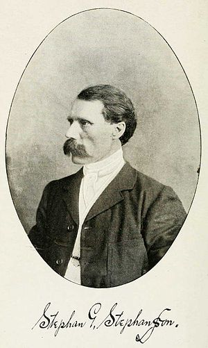 Stephan G. Stephansson - Image: Stephan G Stephansson