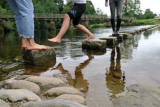 Stepping stones - Stepping stones in Bolton Abbey.