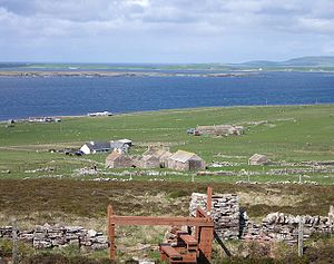 Eday - Looking from Vinquoy Hill towards Westray