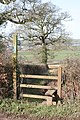 Stile on the public footpath to the B3181 - geograph.org.uk - 1742976.jpg