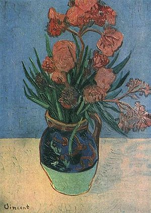 Still Life: Vase with Oleanders - Image: Still Life Vase with Oleanders 1888 van Gogh