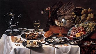 Dutch cuisine - A still life by Pieter Claesz (1627)