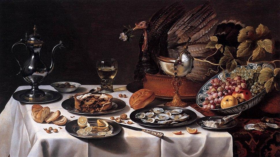 Still Life with Turkey Pie 1627 Pieter Claesz