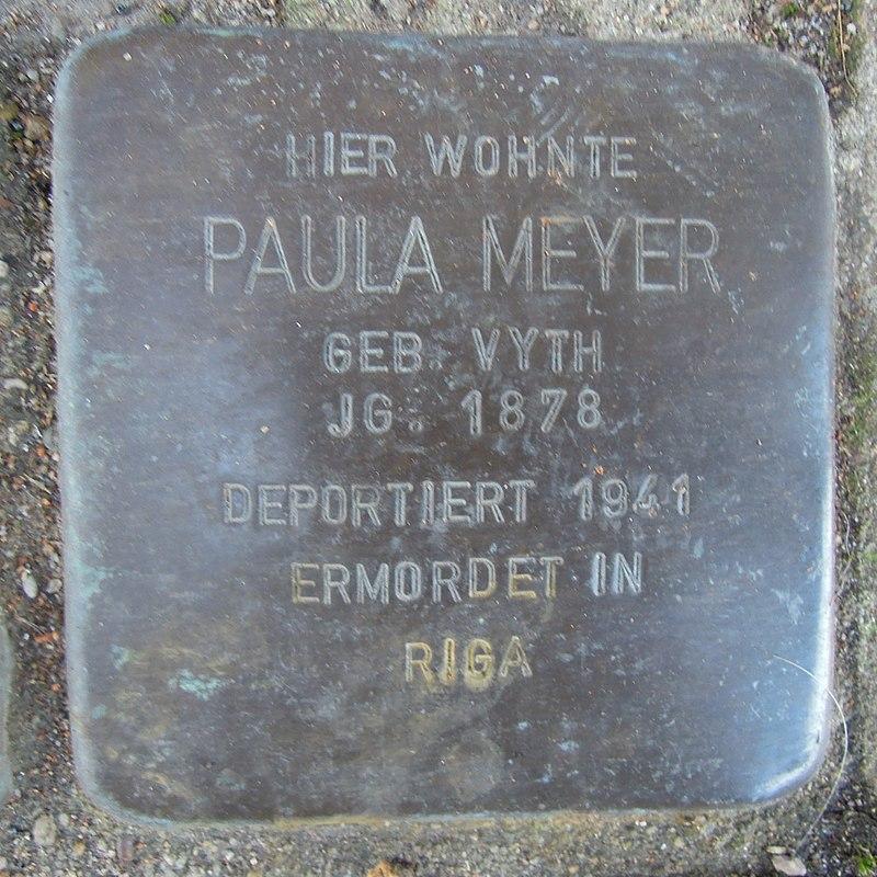 Stolperstein für Paula Meyergeb. Vyth