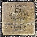 Stolperstein Bartningallee 7 (Hansa) Herta Jakobsthal.jpg