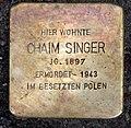 Stolperstein Choriner Str 81 (Mitte) Chaim Singer.jpg
