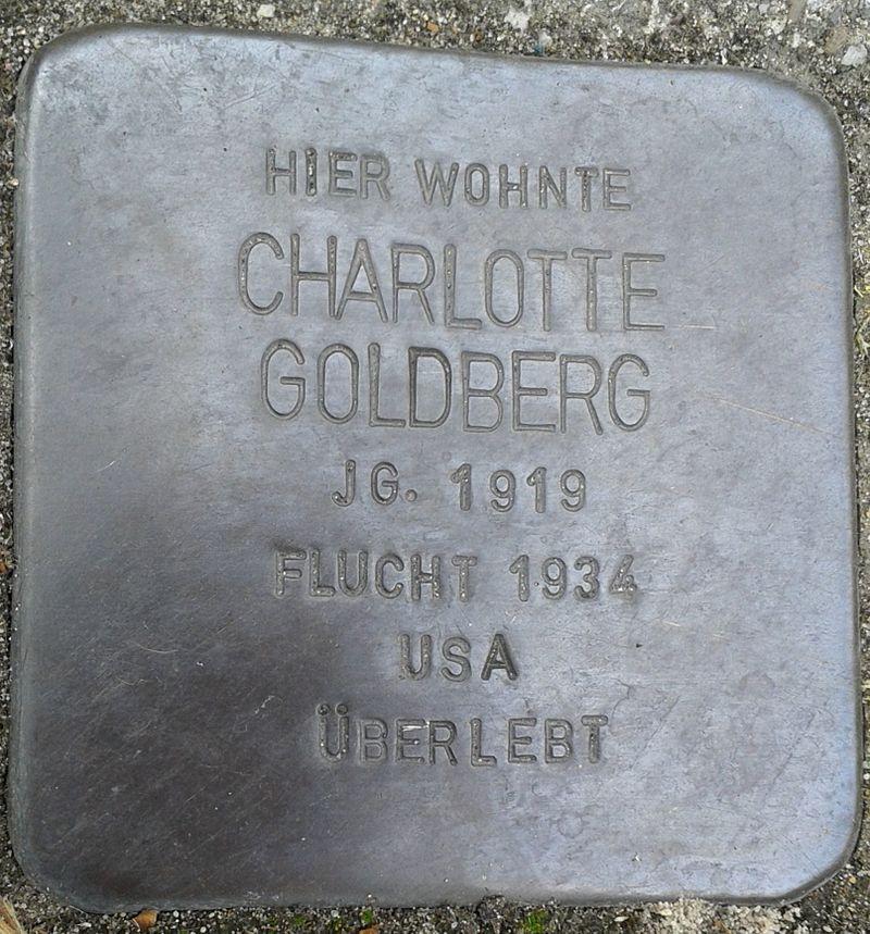 Stolperstein Datteln Carl-Gastreich-Straße 5 Charlotte Goldberg