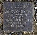 Stolperstein Flotowstr 1 (Hansa) Jettka von Gizycki.jpg