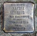 Stolperstein Hochstädter Str 1 (Weddi) Martha Neumann.jpg