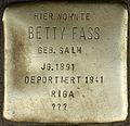 Stolperstein Köln, Betty Fass (Maastrichter Straße 21).jpg