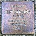 Stolperstein Platz der Vereinten Nationen 26 (Friedh) Kurt Abraham.jpg