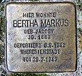 Stolperstein Schwerinstr 5 (Schön) Bertha Markus.jpg