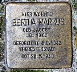 Photo of Bertha Markus brass plaque