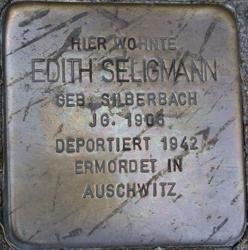Stolperstein Seligmann, Edith.JPG