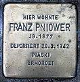 Stolperstein Stierstr 16 (Fried) Franz Pniower.jpg