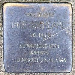 Photo of Inge Buchdahl brass plaque