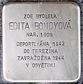 Stolperstein für Edita Bondyova.jpg
