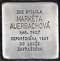 Stolperstein für Marketa Auerbachova.jpg
