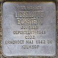 Stumbling stone for Lieselotte Eckstein (Im Weichserhof 8)