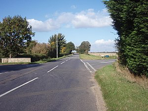 King Street (Roman road) - King street at Stowe, Lincolnshire