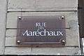 Street sign in Nancy, rue des maréchaux.JPG
