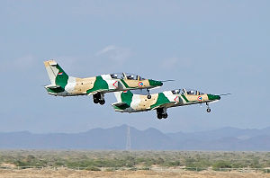 Sudanese Air Force - K-8s of the Sudanese Air Force taking off from Port Sudan Airport.