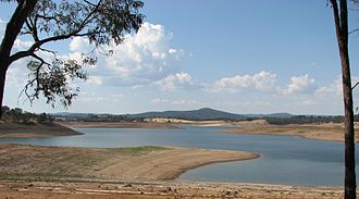 Christmas Hills, Victoria - The reservoir at just under half capacity
