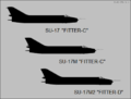 Sukhoi Su-17, Su-17M and Su-17M2 side-view silhouettes.png