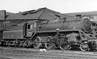 BR Standard Class 4 2-6-0 - 76023 at Sunderland MPD.