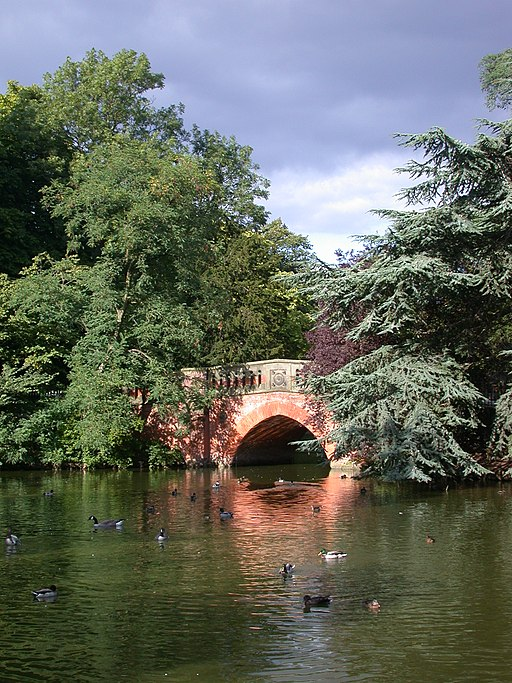 Sunlit bridge - Cannon Hill Park, Birmingham - Andy Mabbett