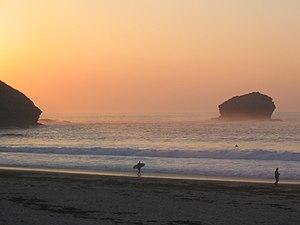 Portreath - Image: Sunset Portreath
