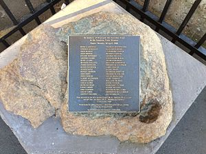 Sunshine rail disaster - Memorial plaque commemorating the incident at Sunshine platform 1.