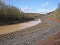 Surface water channel, Heathfield landfill site - geograph.org.uk - 1751858.jpg