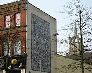 Sutton Heritage Mosaic - Image: Sutton Surrey London Sutton Heritage mosaic