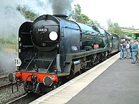 "Swanage Railway, No. 34028 ""Eddystone"" - geograph.org.uk - 211759.jpg"
