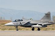 Swedish JAS-39 Gripen landing