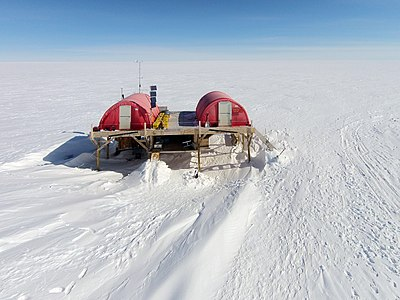 Aerial recording of Swiss Camp (Greenland)