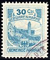 Switzerland Aarau 1908 revenue 30C - 15c.jpg