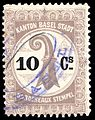 Switzerland Basel 1899 bordereau revenue 10c - 7A.jpg