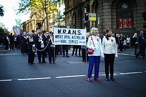 Women's Royal Australian Naval Service - WRANS at the Sydney 2015 Anzac Day march