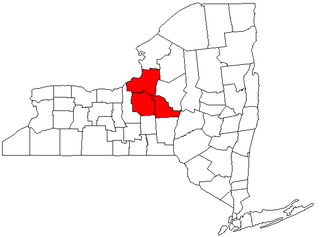 Syracuse metropolitan area - Map of New York highlighting the Syracuse Metropolitan Statistical Area.