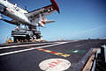 T-2C of VT-9 on USS Forrestal (CV-59) 1991.jpeg