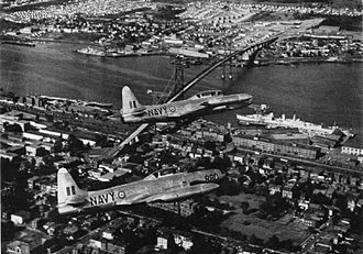Canadair CT-133 Silver Star - Two CT-133s of the Royal Canadian Navy over Halifax in 1957.