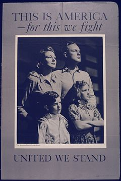 united we stand divided we fall united states propaganda poster world war ii