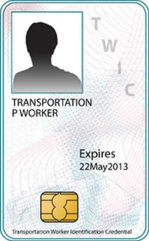 Transportation Worker Identification Credential - A sample Transportation Worker Identification Credential.