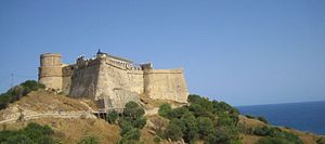 Italian Tunisians - Genoese fort at the island of Tabarka, near Biserta, in the northern coast of Tunisia facing Sardinia.