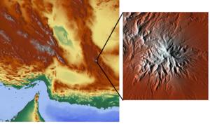 Taftan (volcano) - Taftan in Iran