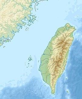 1935年新竹台中地震在台灣的位置
