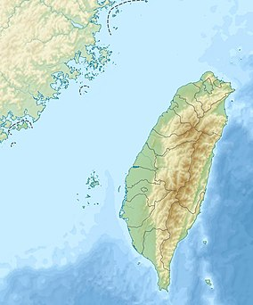 Map showing the location of Taijiang National Park台江國家公園